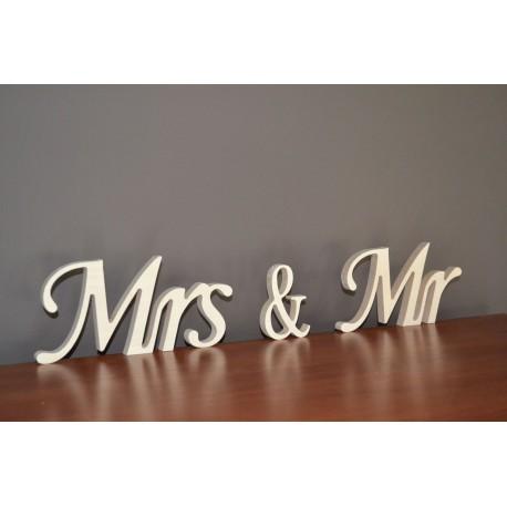 Napis na ślub wesele Mrs & Mr