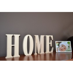 Napis HOME 65 x 21 cm surowe drewno