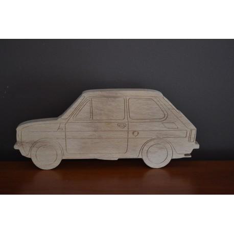Maluch fiat 126p model z drewna