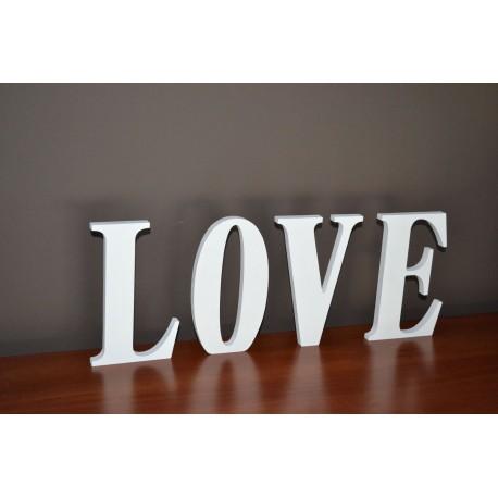 Napis stojący LOVE malowany