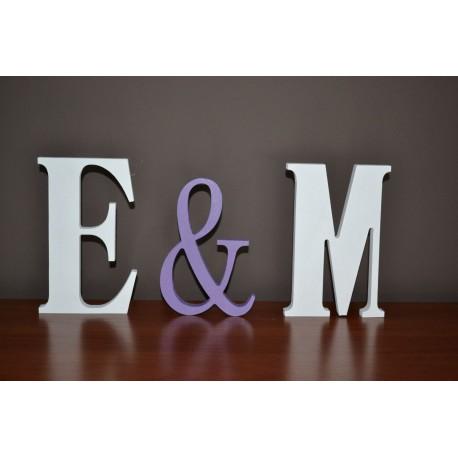 Dekoracje ślubne litery stojące