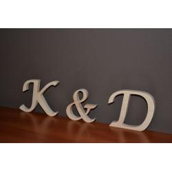 Dekoracja na ślub wesele litery stojące 14 cm
