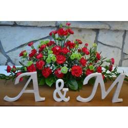 Ozdobne litery stojące na ślub wesele