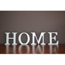 Dekoracyjny napis HOME drewniany