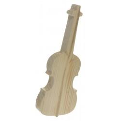 Gitara z drewna decoupage