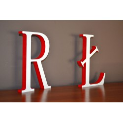 Modne kolorowe litery stojące dwukolorowe