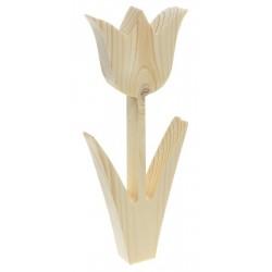 Tulipan z listkami decoupage