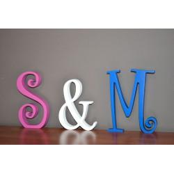 Litery przestrzenne stojące na ślub