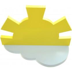 Półka słońce chmurka do pokoju dziecinnego