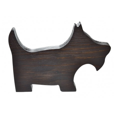 Pies z drewna Ratler malowany