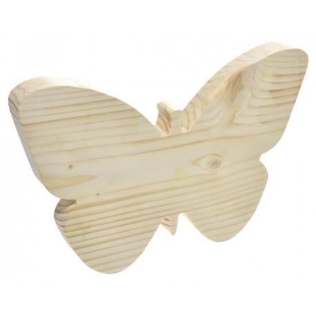 Motyl z drewna niemalowany