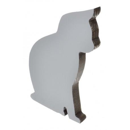 Kot siedzący dwukolorowy szaro brązowy