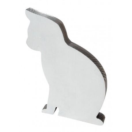 Kot siedzący dwukolorowy biało brązowy