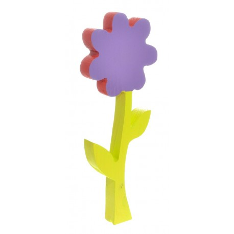 Kwiatek z drewna malowany