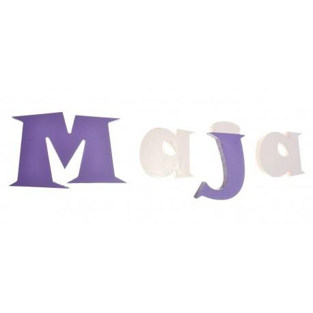 Imię dziecka z liter 3D